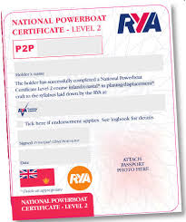 RYA Power Boat Level 2 Practical Course Certificate